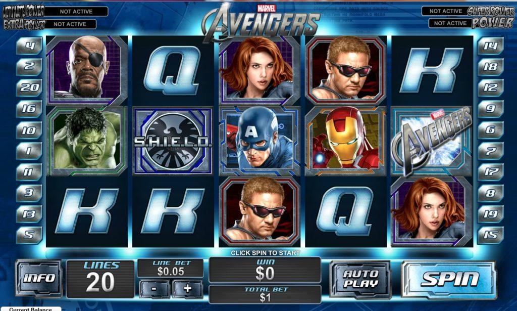 avengers characters onlien gambling