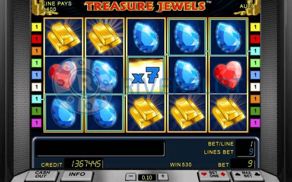 casino game treasure jewels online